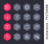 sostware api vector line icons. ...