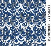 indigo tie dye seamless pattern.... | Shutterstock .eps vector #791726956