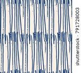 indigo vector tie dye seamless... | Shutterstock .eps vector #791728003