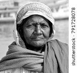 indian woman varanasi  april... | Shutterstock . vector #791728078