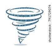 icon of a snow cyclone tornado. ... | Shutterstock .eps vector #791729074