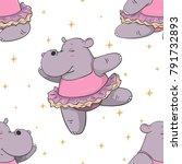 hand drawn seamless pattern...   Shutterstock .eps vector #791732893