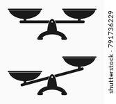 scales icon set. vector... | Shutterstock .eps vector #791736229