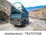 pakistan april 2016 a lorry... | Shutterstock . vector #791737258