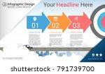 business infographics report ...   Shutterstock .eps vector #791739700