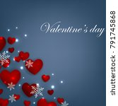 happy valentines day background ... | Shutterstock .eps vector #791745868