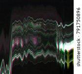 abstract digital screen glitch... | Shutterstock . vector #791750896