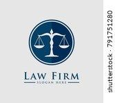 law firm law office  lawyer...   Shutterstock .eps vector #791751280