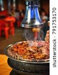 korean barbecue  korean food ...   Shutterstock . vector #791753170