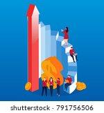 concept business development   Shutterstock .eps vector #791756506