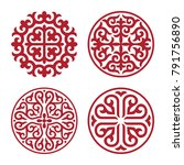 traditional ornament of middle... | Shutterstock .eps vector #791756890