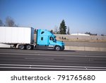 bright blue modern road train... | Shutterstock . vector #791765680