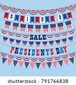 presidents day bunting vector... | Shutterstock .eps vector #791766838