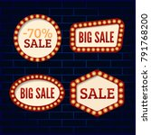 vintage sale banners  icons set.... | Shutterstock .eps vector #791768200