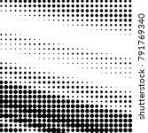 grunge halftone black and white ... | Shutterstock . vector #791769340