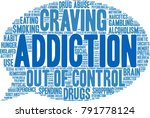 addiction word cloud on a white ... | Shutterstock .eps vector #791778124