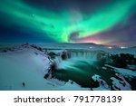 a stunning aurora shape like... | Shutterstock . vector #791778139