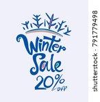 winter sale. 20 . dark blue...   Shutterstock .eps vector #791779498