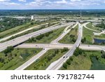 aerial view of highways ... | Shutterstock . vector #791782744