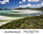 view from hill inlet of the... | Shutterstock . vector #791782774