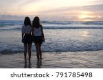 full length rear shot of two... | Shutterstock . vector #791785498