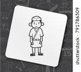 japanese chef doodle | Shutterstock .eps vector #791786509