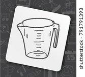 measuring cup doodle | Shutterstock .eps vector #791791393