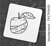 health eat doodle | Shutterstock .eps vector #791793433