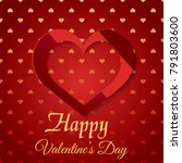 valentine's day greeting card... | Shutterstock .eps vector #791803600