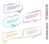 set of bubble speech quote box... | Shutterstock .eps vector #791804140