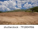 red dirt in the field which... | Shutterstock . vector #791804986
