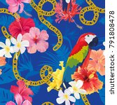 beautiful seamless pattern with ...   Shutterstock .eps vector #791808478