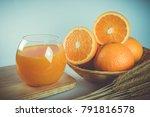 fresh orange juice decorated on ...