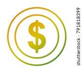 dollar coin money cash icon | Shutterstock .eps vector #791818399