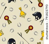 seamless pattern cartoon... | Shutterstock .eps vector #791823793