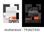t shirt design sports training... | Shutterstock .eps vector #791827333