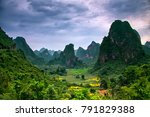 epic view to karst formation... | Shutterstock . vector #791829388