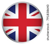 flag of united kingdom  round... | Shutterstock .eps vector #791838640