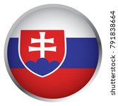 flag of slovakia  round icon  | Shutterstock .eps vector #791838664