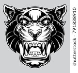 angry panther head logo. | Shutterstock .eps vector #791838910