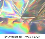 holographic background... | Shutterstock . vector #791841724