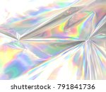 holographic iridescent color... | Shutterstock . vector #791841736