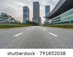 city road through modern... | Shutterstock . vector #791852038