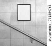 blank billboard located in... | Shutterstock . vector #791854768