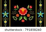 polish folk pattern vector.... | Shutterstock .eps vector #791858260