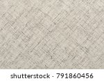 texture of natural linen fabric | Shutterstock . vector #791860456