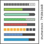 loading bar progress  download... | Shutterstock .eps vector #791861668