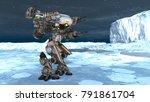 3d cg rendering of a battle... | Shutterstock . vector #791861704