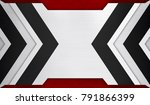 abstract metal with arrow... | Shutterstock . vector #791866399