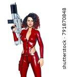 3d cg rendering of a female... | Shutterstock . vector #791870848